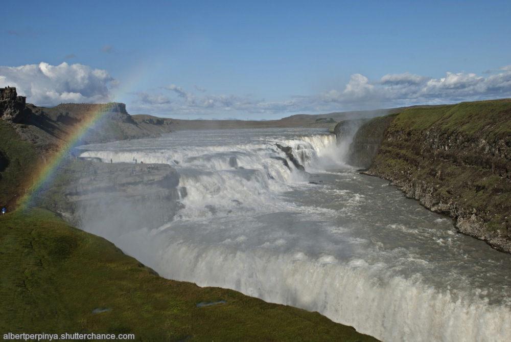 photoblog image Gullfoss (Golden Waterfall)